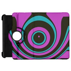 Distorted Concentric Circleskindle Fire Hd Flip 360 Case by LalyLauraFLM