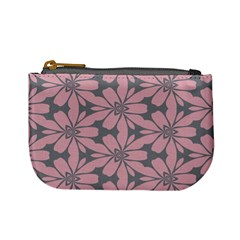 Pink Flowers Pattern Mini Coin Purse by LalyLauraFLM