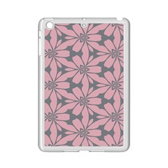 Pink Flowers Pattern Apple Ipad Mini 2 Case (white) by LalyLauraFLM