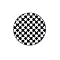 Black And White Polka Dots Golf Ball Marker (for Hat Clip) by ElenaIndolfiStyle