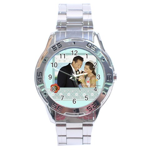 Wedding By Wedding   Stainless Steel Analogue Watch   Bic04a7r0zcc   Www Artscow Com Front
