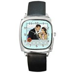 wedding - Square Metal Watch