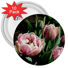 Tulips 3  Button (10 Pack) by anstey