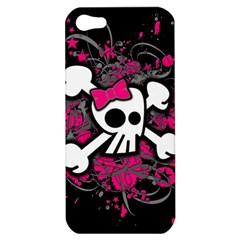 Girly Skull And Crossbones Apple Iphone 5 Hardshell Case