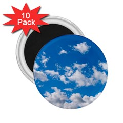 Bright Blue Sky 2 25  Button Magnet (10 Pack) by ansteybeta