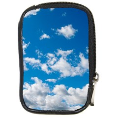 Bright Blue Sky Compact Camera Leather Case by ansteybeta