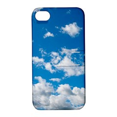 Bright Blue Sky Apple iPhone 4/4S Hardshell Case with Stand by ansteybeta