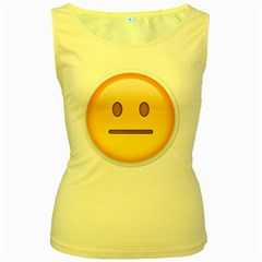 Neutral Face  Women s Tank Top (Yellow) by Bauble
