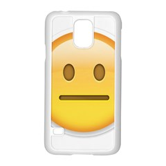 Neutral Face  Samsung Galaxy S5 Case (white) by Bauble