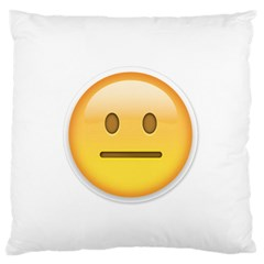 Neutral Face  Large Flano Cushion Case (Two Sides) by Bauble