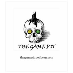 The Game Pit Podcast By Sean   Drawstring Pouch (large)   2l3jylub4cei   Www Artscow Com Front