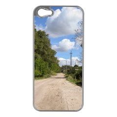Dusty Road Apple iPhone 5 Case (Silver) by ansteybeta