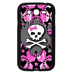 Pink Bow Skull Samsung Galaxy Grand Duos I9082 Case (black) by ArtistRoseanneJones