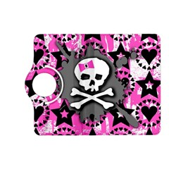 Pink Bow Skull Kindle Fire Hd (2013) Flip 360 Case by ArtistRoseanneJones
