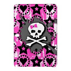 Pink Bow Skull Samsung Galaxy Tab Pro 10.1 Hardshell Case by ArtistRoseanneJones