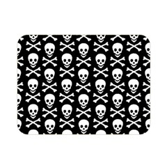 Skull And Crossbones Pattern Double Sided Flano Blanket (mini) by ArtistRoseanneJones