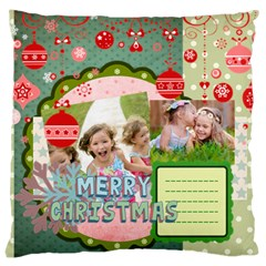 Xmas By Xmas   Large Cushion Case (two Sides)   6micmuotg210   Www Artscow Com Front