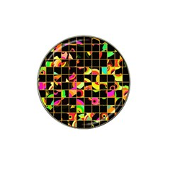 Pieces In Squares Hat Clip Ball Marker (4 Pack) by LalyLauraFLM