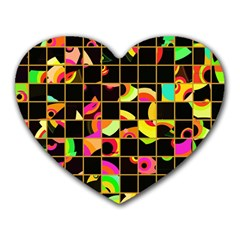Pieces In Squares Heart Mousepad by LalyLauraFLM