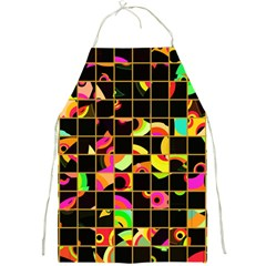 Pieces In Squares Full Print Apron by LalyLauraFLM