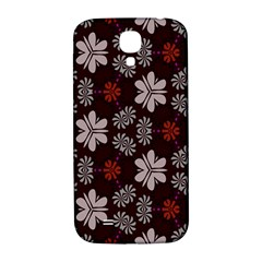 Floral Pattern On A Brown Background Samsung Galaxy S4 I9500/i9505  Hardshell Back Case by LalyLauraFLM