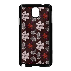 Floral Pattern On A Brown Background Samsung Galaxy Note 3 Neo Hardshell Case by LalyLauraFLM