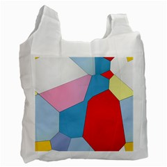 Colorful Pastel Shapes Recycle Bag (one Side) by LalyLauraFLM
