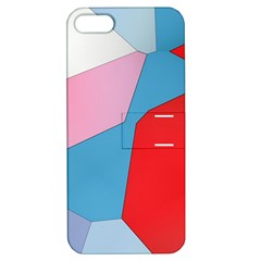 Colorful pastel shapes Apple iPhone 5 Hardshell Case with Stand by LalyLauraFLM