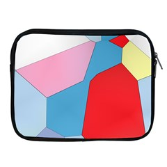Colorful Pastel Shapes Apple Ipad 2/3/4 Zipper Case by LalyLauraFLM
