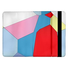 Colorful Pastel Shapes	samsung Galaxy Tab Pro 12 2  Flip Case