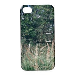Grass And Trees Nature Pattern Apple Iphone 4/4s Hardshell Case With Stand by ansteybeta