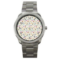 Mustaches Sport Metal Watch by boho