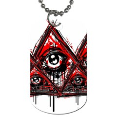 Red White Pyramids Dog Tag (two Sided)  by teeship