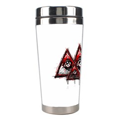 Red White Pyramids Stainless Steel Travel Tumbler by teeship