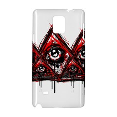 Red White Pyramids Samsung Galaxy Note 4 Hardshell Case by teeship