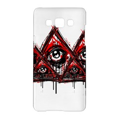 Red White pyramids Samsung Galaxy A5 Hardshell Case  by teeship