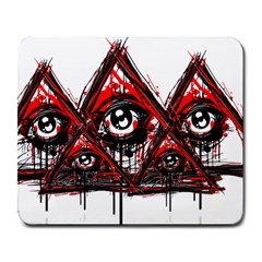Red White Pyramids Large Mouse Pad (rectangle) by teeship