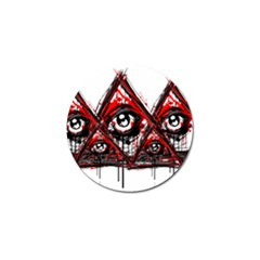 Red White Pyramids Golf Ball Marker 4 Pack by teeship