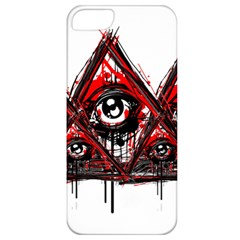 Red White Pyramids Apple Iphone 5 Classic Hardshell Case by teeship