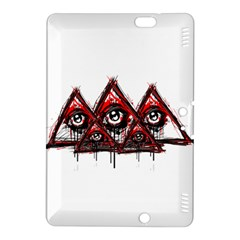 Red White Pyramids Kindle Fire Hdx 8 9  Hardshell Case