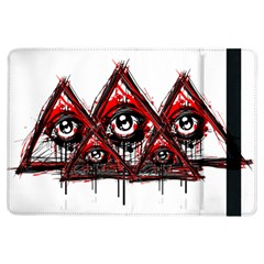 Red White Pyramids Apple Ipad Air Flip Case by teeship