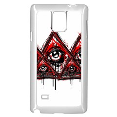 Red White Pyramids Samsung Galaxy Note 4 Case (white) by teeship
