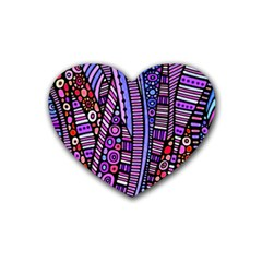 Stained Glass Tribal Pattern Drink Coasters (heart) by KirstenStar