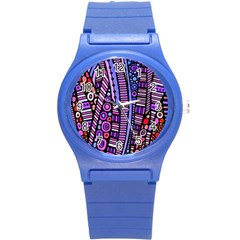 Stained glass tribal pattern Plastic Sport Watch (Small) by KirstenStar