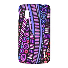 Stained glass tribal pattern Google Nexus 4 (LG E960) Hardshell Case by KirstenStar