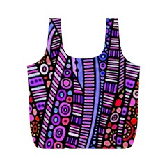 Stained Glass Tribal Pattern Reusable Bag (m) by KirstenStar