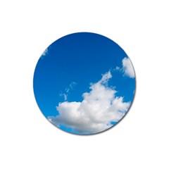 Bright Blue Sky 2 Magnet 3  (round) by ansteybeta
