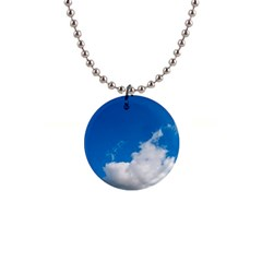 Bright Blue Sky 2 Button Necklace by ansteybeta