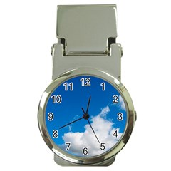 Bright Blue Sky 2 Money Clip With Watch by ansteybeta