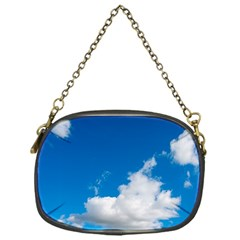 Bright Blue Sky 2 Chain Purse (one Side) by ansteybeta